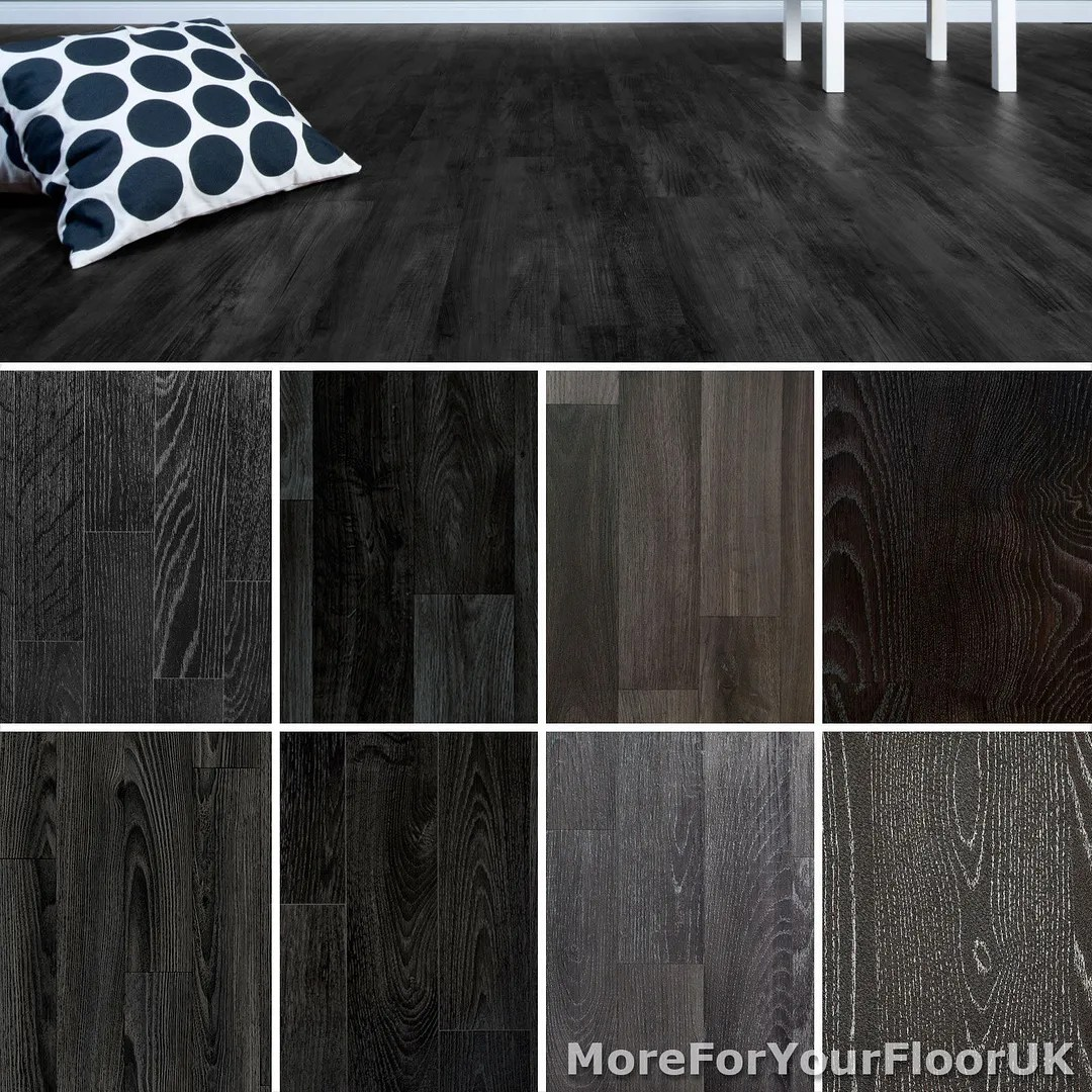 bathroom vinyl flooring kitchen flooring vinyl Black Wood Plank Vinyl Flooring Non Slip Vinyl Flooring Lino Kitchen Bathroom