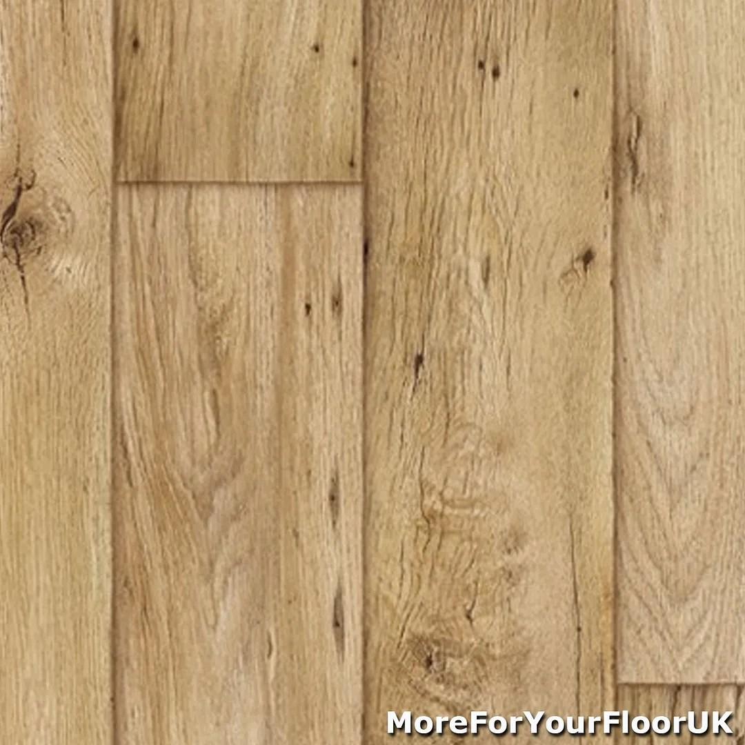 vinyl planks kitchen floor lino 3 8mm Thick Vinyl Flooring Realistic Warm Wood Plank Effect Lino Kitchen CHEAP