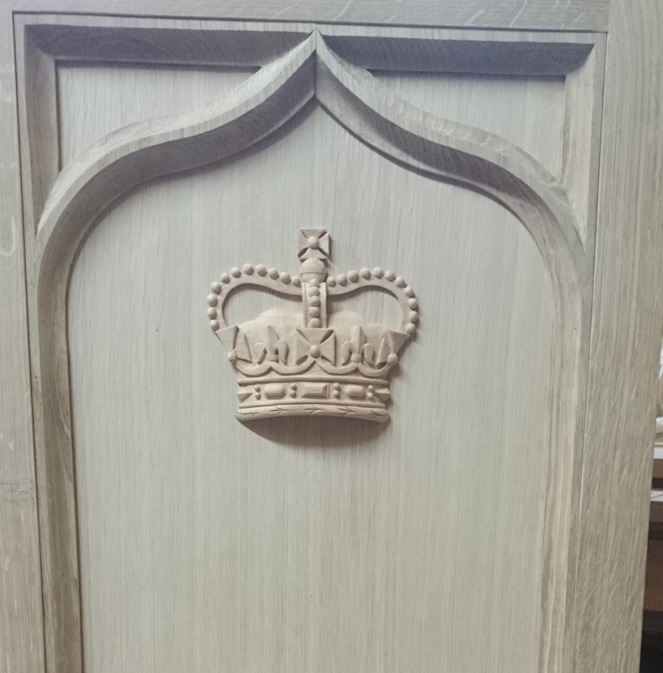 Crown Lectern. Lime Wood & Oak. Private Client