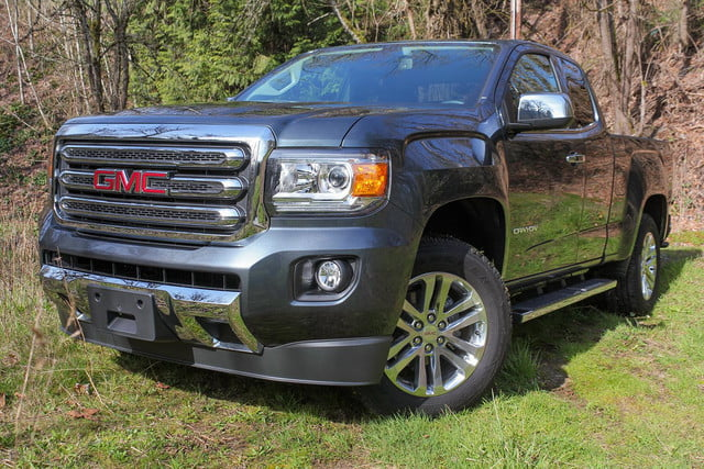 2015 GMC Canyon SLT Review   Digital Trends 2015 GMC Canyon SLT front angle