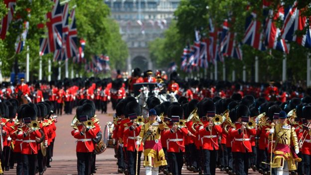 United Kingdom country profile   BBC News Trooping The Colour parade