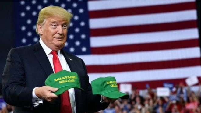 US President Donald Trump to visit Ireland in November   BBC News Image copyright AFP Image caption US President