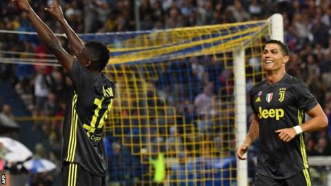 Parma 1 2 Juventus  Juventus stay top of Serie A thanks to     Blaise Matuidi and Cristiano Ronaldo