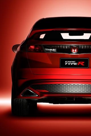 Honda Civic Type R Rear iPhone Wallpaper | iDesign iPhone