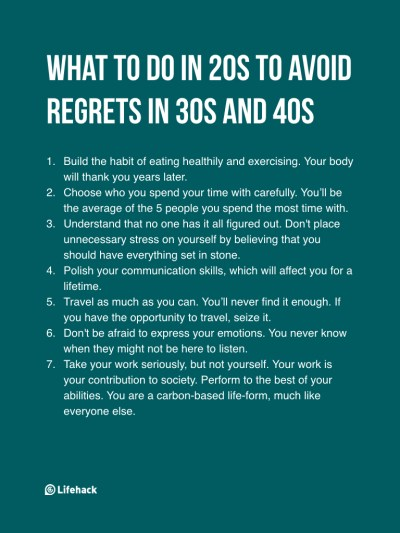 7 Things To Remember In Your 20s If You Don't Want To Have Regrets | Cognizance