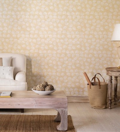 Buy Cream & Off White on Taupe Textured Non-Woven Paper Sea Escape Coral Bay Wallpaper by Nilaya ...