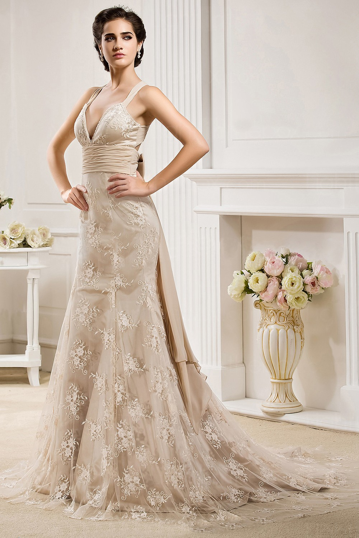 wedding dress corset style wedding dresses Vintage Crochet wedding gown vogueseasoncom