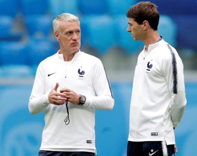 France coach Didier Deschamps on brink of history   Rediff com Sports Didier Deschamps