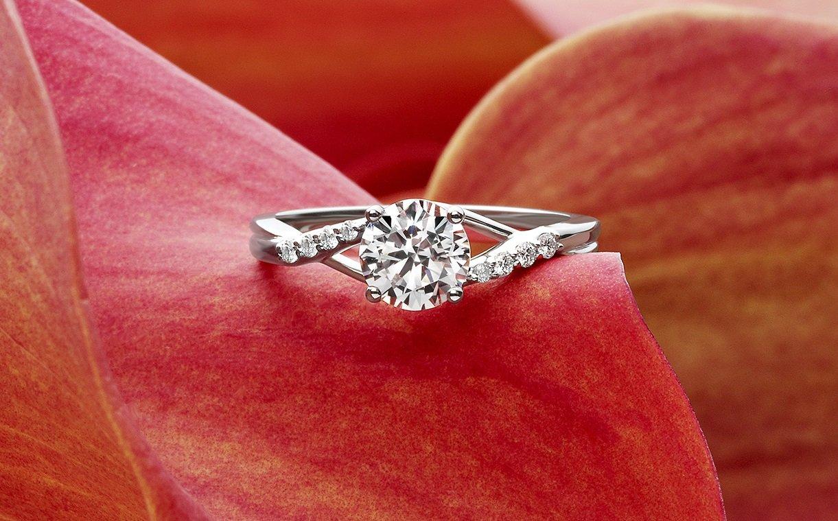 moissanite vs diamond brilliant earth wedding bands Diamond Brilliant Earth