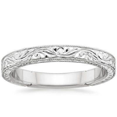 Hand-Engraved Laurel Ring   Brilliant Earth