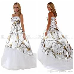 Tree White Camo Wedding Dresses | Dream Wedding IdeaS Around The World