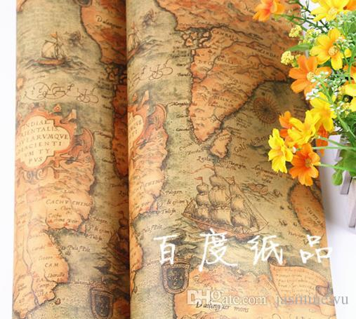 Vintage World Map Gift Wrapping Paper Birthday Wedding Favor     Vintage World Map Gift Wrapping Paper Birthday Wedding Favor Christmas Baby  Shower Gift Wrap Present Box Wrap Event   Party Supplies 75 52cm Xmas Gift  Bags