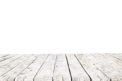 Table made with old white planks without background Photo | Free Download