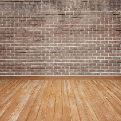 Wooden floor with brick wall Photo | Free Download