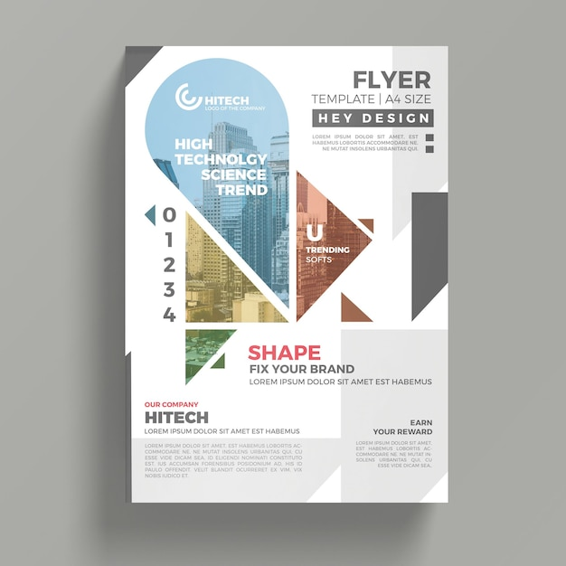 Creative flyer mockup PSD file   Free Download Creative flyer mockup Free Psd