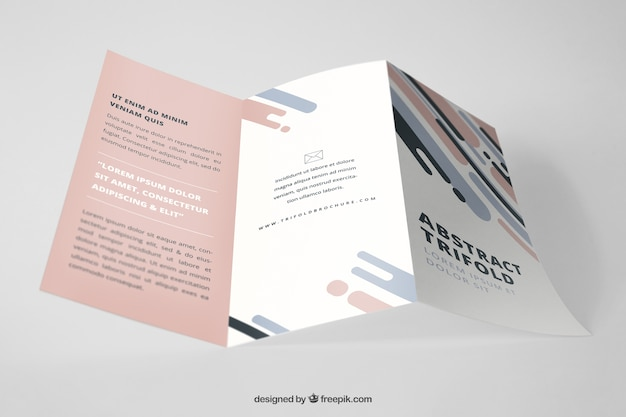 Professional trifold brochure mockup PSD file   Free Download Professional trifold brochure mockup Free Psd