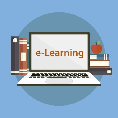 Background e-learning design Vector | Free Download