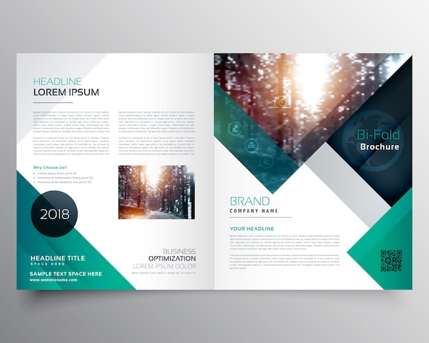 Green business brochure template Vector   Free Download Green business brochure template Free Vector