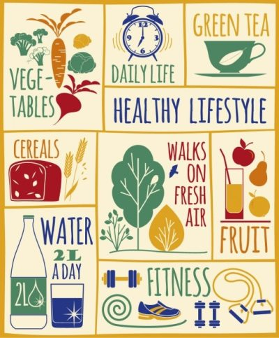 Healthy lifestyle illustration Vector | Free Download