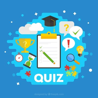 Quiz background with items in flat design Vector | Free Download
