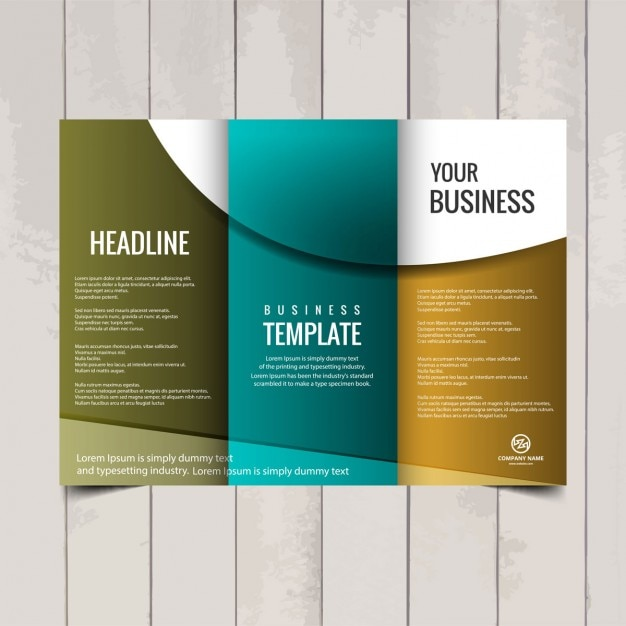 Tri fold brochure template Vector   Free Download Tri fold brochure template Free Vector