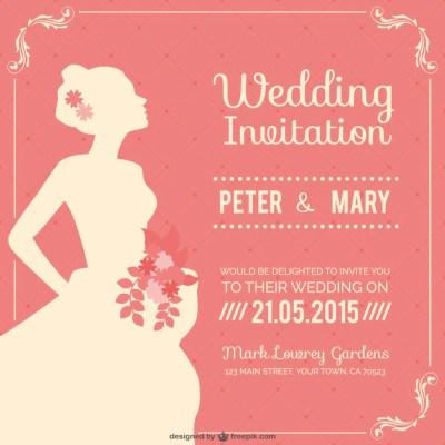 Vintage wedding invitation Vector | Free Download