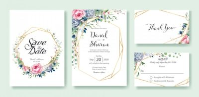 Wedding invitation card template Vector | Premium Download