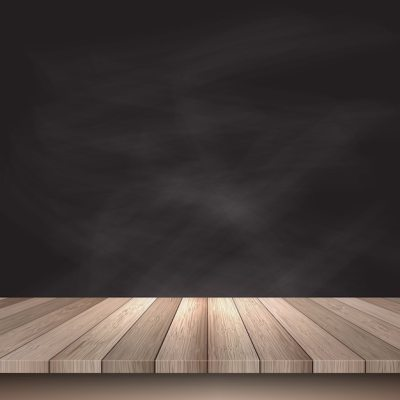 Wooden table on a black background Vector | Free Download