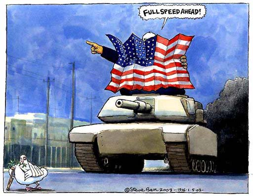 01 05 03  The road map to peace in the Middle East   Cartoons     01 05 03  Steve Bell on the road map to peace in the Middle East