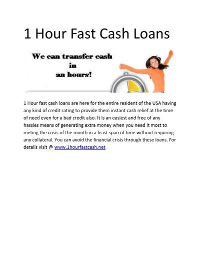 1 hour fast cash loans by John Miller - Issuu