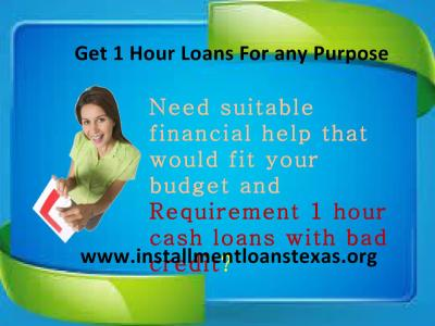 Avail Loans For Bad Credit In Just An Hour Of Applying With Long And Short Term Monthly ...