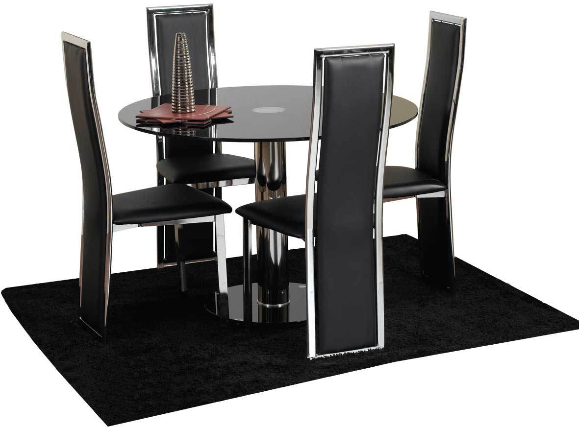4 chair dining table modern kitchen table chairs Chairs Next Day Delivery Hampton cm Glass Dining Table