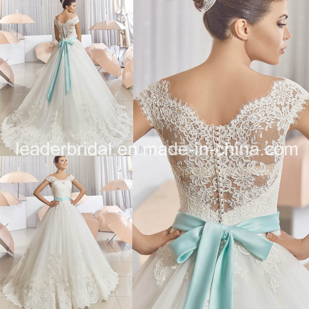 wedding dresses with blue lace wedding dresses blue Color Accented Gowns Suzhou Leader Apparel Co Ltd Page 3