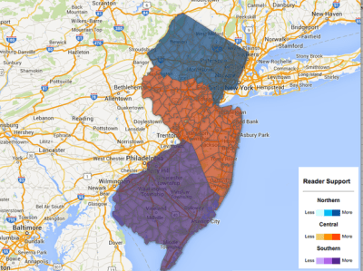 Here are the North, Central and South Jersey borders as determined by you (INTERACTIVE)   NJ.com