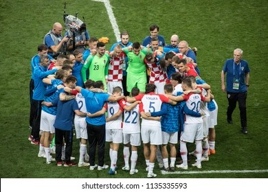 France National Football Team Images  Stock Photos   Vectors  10     Croatian national football team after a loss at World Cup 2018 final match  France vs Croatia