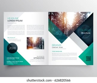 Brochure Design Images  Stock Photos   Vectors   Shutterstock business bifold brochure or magazine cover design vector template