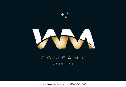 Letter Wm Images  Stock Photos   Vectors   Shutterstock wm w m white yellow gold golden metal metallic luxury alphabet company  letter logo design vector icon