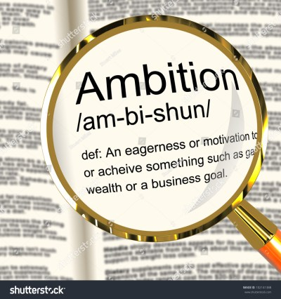 Ambition Definition Magnifier Shows Aspirations Motivation Stock Illustration 102141388 ...
