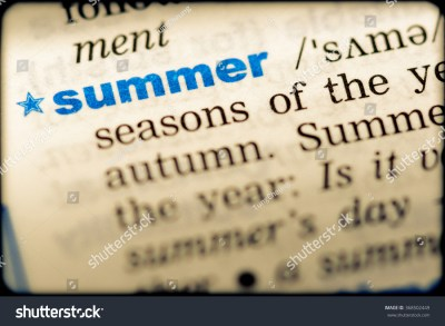 Closeup Word English Dictionary Summer Definition Stock ...