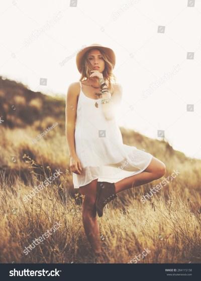 Fashion Lifestyle. Fashion Portrait Of Beautiful Young ...