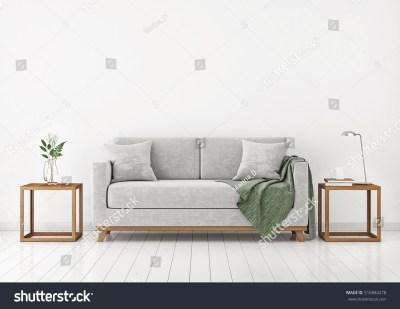 Interior Sofa Plants Plaid On Empty Stock Illustration 516884278 - Shutterstock