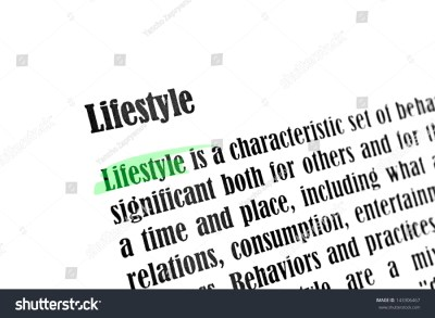 Lifestyle Word And Paragraph By Definition Closeup Stock ...
