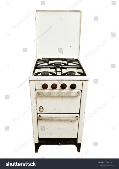 Old Vintage Gas Stove Over White Background Stock Photo 54631912 : Shutterstock
