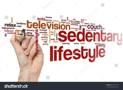 Sedentary Lifestyle Word Cloud Concept Stock Photo ...
