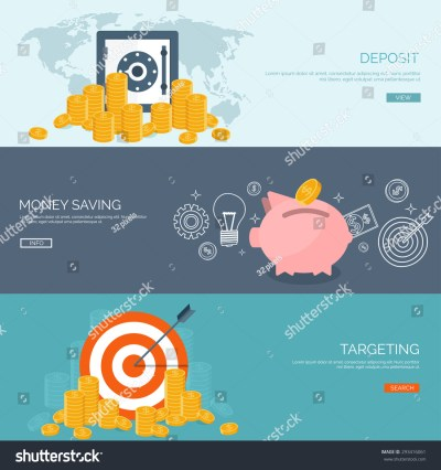 Flat Vector Illustration Backgrounds Set Money Stock Vector 293416061 - Shutterstock