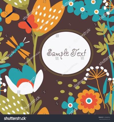 Floral Wallpaper, Preparation For Your Work. Stock Vector Illustration 149468933 : Shutterstock