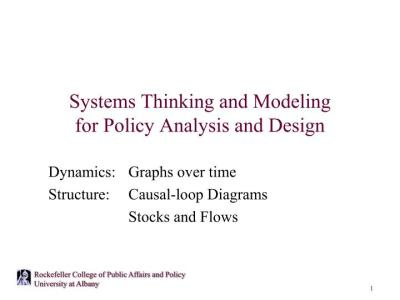 PPT - Systems Thinking and Modeling for Policy Analysis and Design PowerPoint Presentation - ID ...