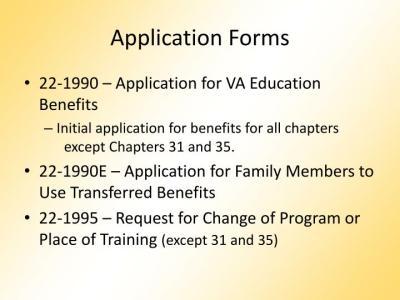PPT - VA Educational Benefits 101 and MyCAA PowerPoint Presentation - ID:347583