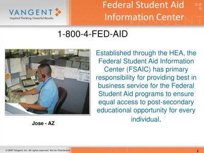 PPT - A Day in the Life of a Customer Service Representative at the Federal Student Aid ...