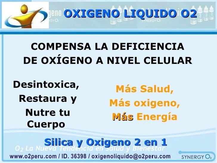 03 beneficios del oxigeno y silica